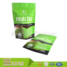 Sello de la etiqueta privada de encargo Sello redondo de la bolsa de té de Matcha vacía de la parte inferior que empaqueta al por mayor