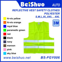 Reflexivo colete roupas de segurança 100% poliéster