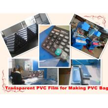Filme de PVC transparente PVC membrana PVC Material para fazer o saco do PVC
