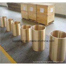 Tubo de cobre dorado Tp1 de la aleación de cobre