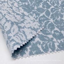 Tissu jacquard en tricot floral bleu 54% acrylique 43% polyester doux au toucher avec lurex métallique brillant pour vêtement