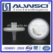 Filtros de seringa hidrófila de PTFE de PTFE de 0,45um