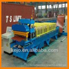 Maquinas formadoras de rolo de telha de metal com telhas coloridas
