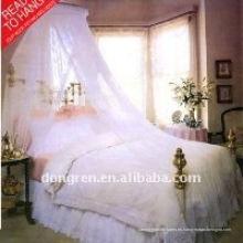 100polyester blanco princesa romántico y elegante cuelga bóveda mosquitero