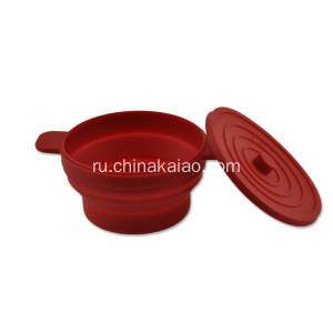 Cosmetics Flexible Silicone Mixing Bowl Red for Kids