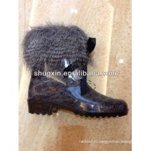 теплая обувь модные зрелых женщин ПВХ