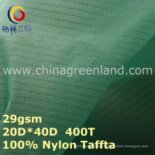 Spandex Nylon Taffeta Plaid Fabric for Waterproof Spoertswear (GLLML279)