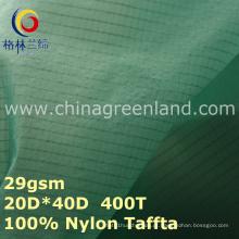 Spandex tecido xadrez de tafetá de nylon para Spoertswear à prova d'água (gllml279)