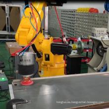 Sistema de pulido para panel de puerta de metal