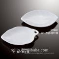 Chaozhou billig weißes Porzellan Blatt-Form Sauce Gericht