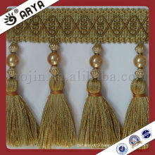 Curtain Tassel and Beads Fabric Trims for curtain Tapestry and sofa ,cushion,Tassel Trim for Curtain