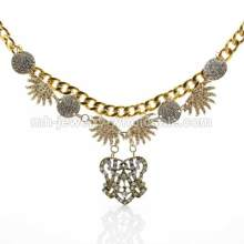 2014 Newest Statement Gold Chunky Necklaces Vintage Bronze