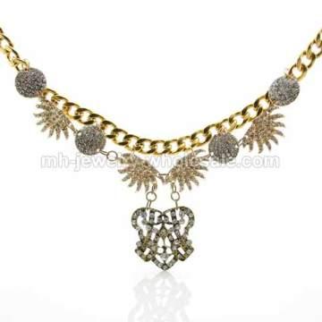 2014 nueva declaración oro gruesos collares Vintage bronce