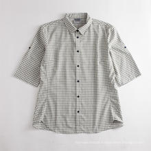 Breathable Men's Small Plaid Short Sleeve Sports Shirt