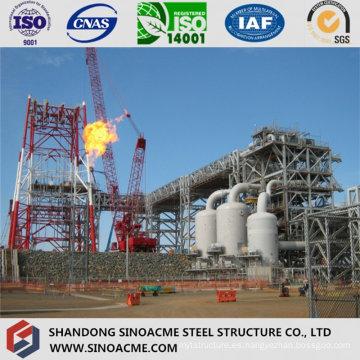 Edificio de planta industrial pesada de piso múltiple con estructura de acero