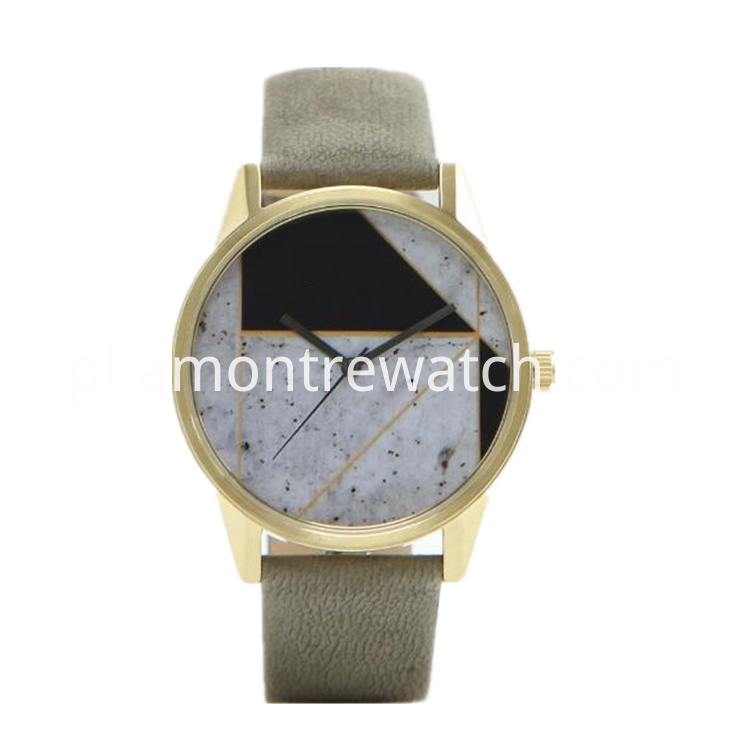 Marble print watch face