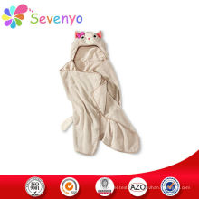 100% microfiber kids beach towel for hooded