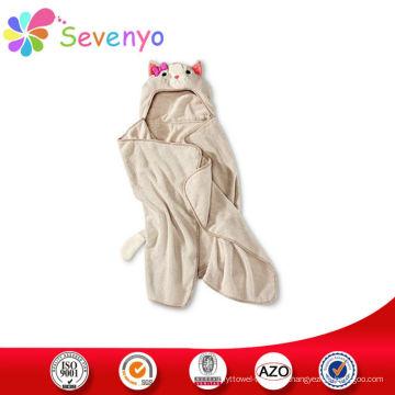 100% микрофибра дети пляжное полотенце с капюшоном