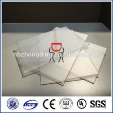Feuille de polycarbonate givré clair de 1,5 mm pour tapis de fauteuil