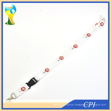 White Neck Lanyard with Breakaway Harness
