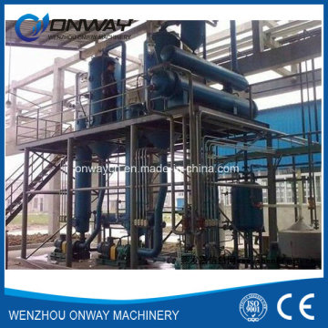 Acero inoxidable Titanium Vacuum Film Evaporation Crystallizer Fábrica de tratamiento de efluentes de aguas residuales Destilación de sulfato de sodio