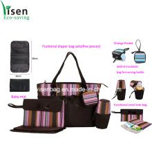 Fashion Stripe Functionable Diaper Bag