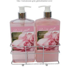 Rose Fragrance Bath Accessories Set with ISO22716 approval