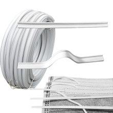 Hot sale facemask material plastic aluminium single core nose bar bridge wire for disposable facemask