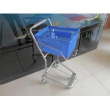 Plastic Basket Trolley Metal Basket Cart
