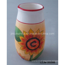 Vaso de girassol