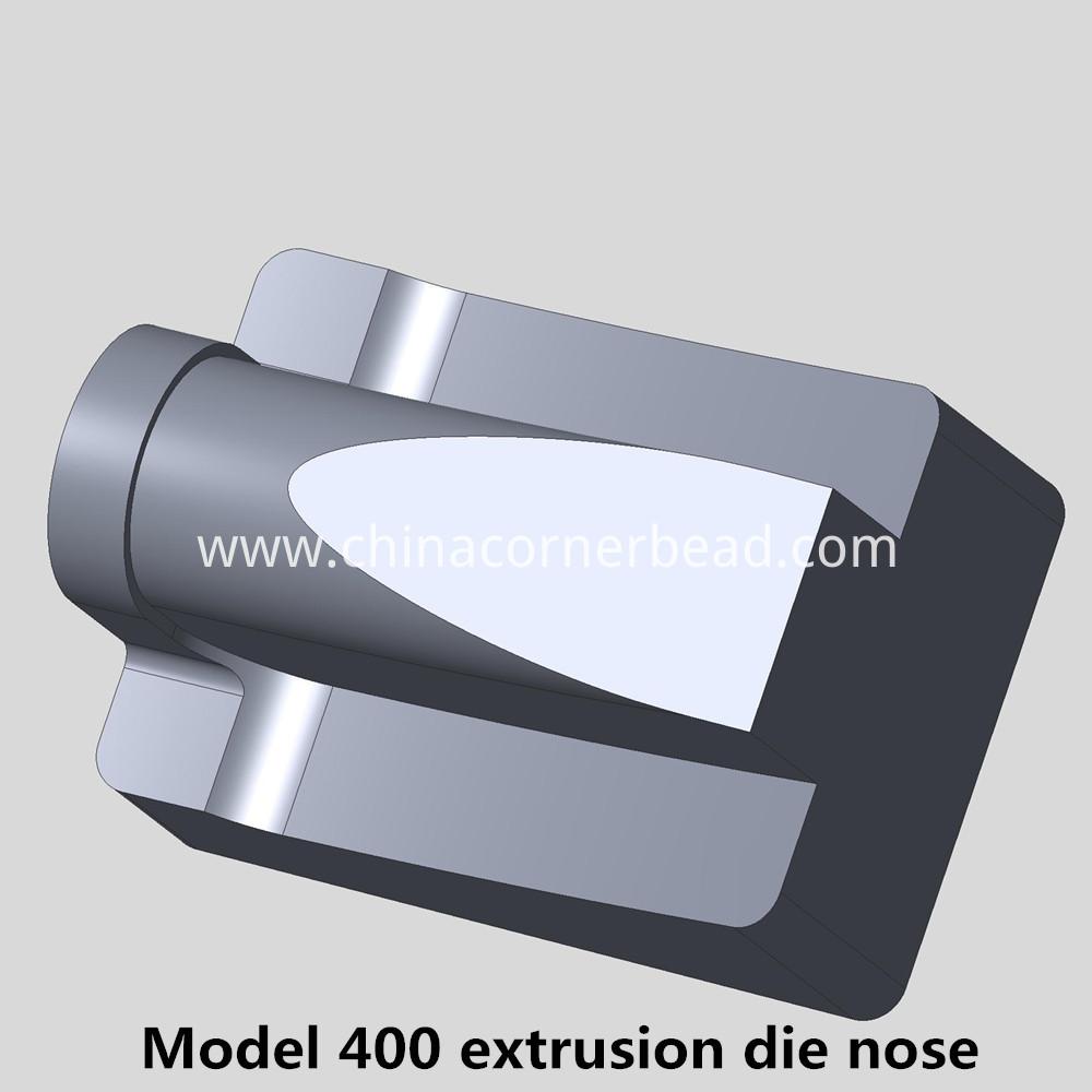 Model 400 extrusion die nose