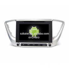 android 7.1 car Gps/auto mutimedia Gps/ Car stereo gps navigation with Quad core Mirror Link for verna