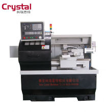 gsk cnc controller cnc lathe machine with automatic feeding device CK6132A