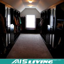 Guardarropa del diseño del armario del Walk-in del grano de madera del chalet de lujo para los muebles caseros (AIS-W456)