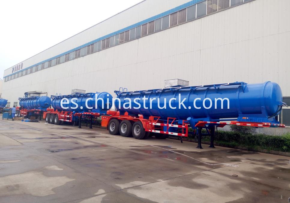 21,000 LITERS V shape sulfuric acid tanker