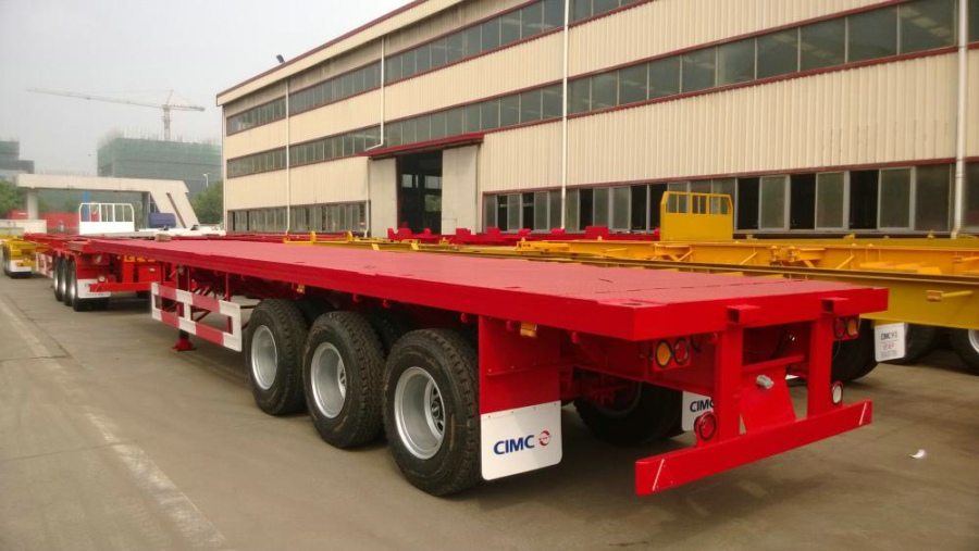 CIMC 40' 3-Axle Flatbed Semi-Trailer