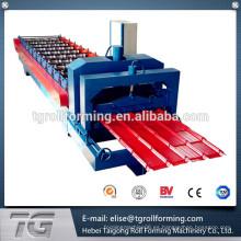 Sistema de control CNC galvanizado techos de chapa laminada de baldosas de rollo de la máquina formadora de ofrecer un servicio verdaderamente global