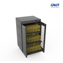 Removable divider charging carts can disinfection