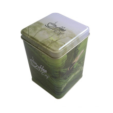 Quadratische Zinn Bo Ffor Tee Lebensmittel Paket