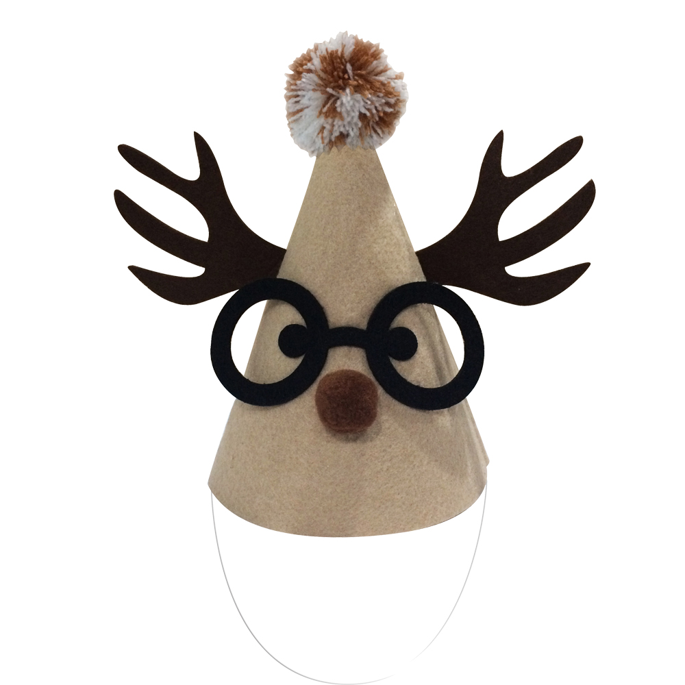 Christmas Reindeer Felt Party Hat