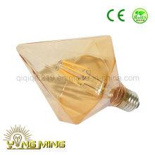 6.5 W острый Алмаз золото цвет E27 высокой мощности светодиодная Лампа