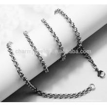 BXG010 2mm de espessura aço inoxidável 316L Cadeia de ligação redonda italiana SNAKE CHAIN colar tornozeleira com garra lagosta clasp jóias