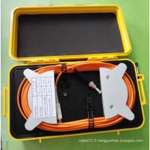 Multimode 50/125 Om2 Fiber Optic OTDR Lancer des boîtes
