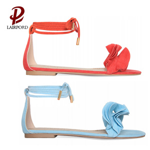 lace strappy cute flat sandals  for girls