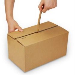 corrugated cardboard zipper carton box