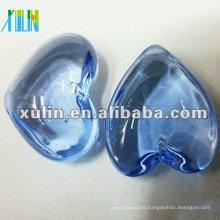 Grandes colgantes de corazones azules con cristal a granel CP066