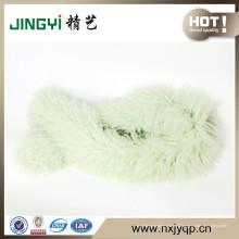 Оптовая Тибетский монгольский ягненок мех и перо шарф