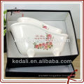 2015 New design wholesale ceramic bathroom accessories set soap holder Gift Set