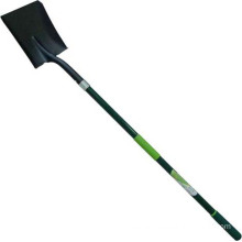 Garden Tools Forged Steel Square Point Shovel with Fibreglass Handle