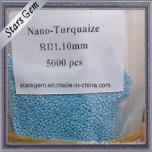 Wholesale Price Round Loose Machine Cut Nano Turquoise Stones for Jewelry Making